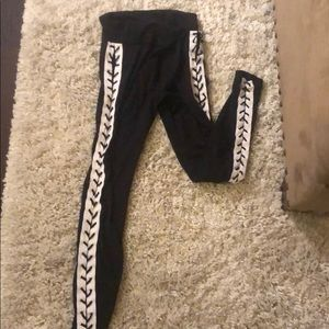 Forever21 laced up leggings